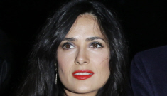 Salma Hayek looks terribly bored & other Paris Fashion Week photos