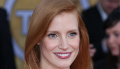 Jessica Chastain in red Alexander McQueen at the SAGs: improving or prom-y?