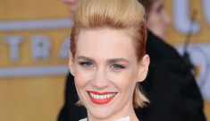 January Jones, big-haired in Prabal Gurung at the SAGs: interesting or just awful?