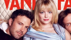 Ben Affleck goes to bed with Emma Stone & Bradley Cooper… for the VF cover