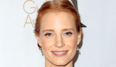 Jessica Chastain in pale, lumpy Dior at the WGA Awards: pretty or ridiculous?