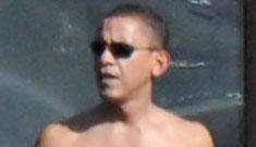 Barack Obama shirtless