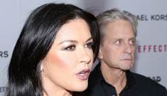 Catherine Zeta Jones and Michael Douglas deny Enquirer's split cover