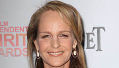 Helen Hunt in a pantsuit, victorious at The Spirit Awards: cool and casual?
