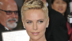 Charlize Theron in white Christian Dior at the Oscars: gorgeous & goddess-y?