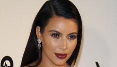 Kim Kardashian shows off her bump at Elton John's Oscar party: not terrible?