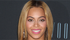 'Beyonce's Mrs. Carter tour poster features a blonde weave with blue roots' links
