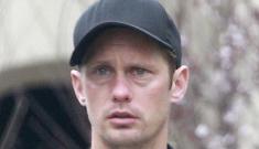 """Did somebody bust up Alexander Skarsgard's pretty face?"" links"