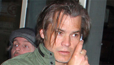 Timothy Olyphant sports stringy, unkempt hair in NYC: would you still hit it?