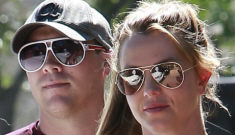 Britney Spears goes to lunch with her boyfriend of one month, David Lucado