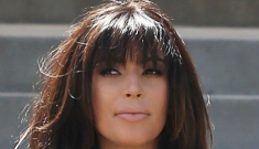 Kim Kardashian wore an odd muttonchop dress in LA: terrible or cute?
