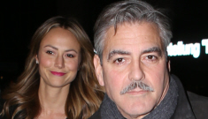 George Clooney & Stacy didn't break up after all, she's in Berlin with him