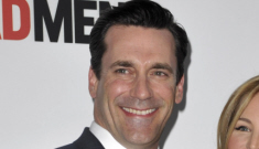 Jon Hamm keeps his ham under wraps at the 'Mad Men' premiere: disappointing?