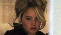 Jennifer Lawrence's 70s-  style updo on the 'Abscam' set: pretty or strange?
