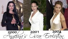 Angelina Jolie's Changing Oscar Style