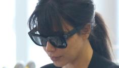 Kim Kardashian & Kanye West return to LA, Kim wears tennis shoes: better?