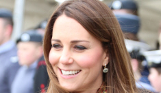 "Duchess Kate wears an ""old"" coral Armani coat in Scotland: lovely & appropriate?"