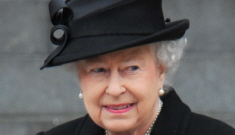 Queen Elizabeth looked almost giddy at Margaret Thatcher's funeral, right?