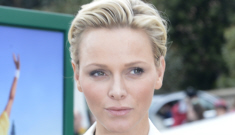 Princess Charlene looks miserable in Monte Carlo with Albert, still isn't pregnant