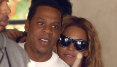 Beyonce & Jay-Z take 15-month-old Blue Ivy out to lunch in Paris: super-cute?