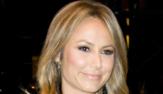 Stacy Keibler in all-black for the Dolce & Gabbana opening in NYC: pretty or trashy?