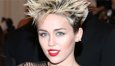 Miley Cyrus in black mesh Marc Jacobs at the Met: punky & appropriate?