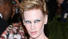 January Jones in Chanel at the Met Gala: alien-fug or punked-out amazing?