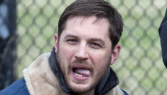 Tom Hardy's engagement is over & he's probably with Noomi Rapace now?