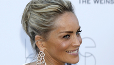 Sharon Stone in Roberto Cavalli at the Cannes amfAR gala: nearly flawless?