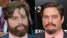 Zach Galifianakis went from a beard to a goatee: improvement or bizarre?