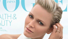 """Princess Charlene's Vogue Japan cover is minimalist, plastic-y"" links"