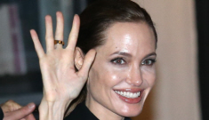Brad Pitt & Angelina Jolie got boozy in Paris for Jolie's 38th birthday