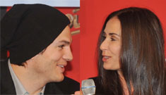Is Demi Moore showing off photos of Ashton Kutcher's small package?