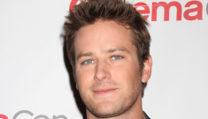 Armie Hammer respects his feminist wife too much to pull her hair during sex