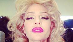 Lisa Rinna imitates Audrey Hepburn & Marilyn Monroe on Instagram: wtf?