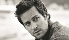 Armie Hammer & his wife pose for a Town & Country photoshoot: cheesy or hot?