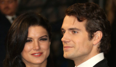 Henry Cavill & Gina Carano might be having problems now that he's super-famous