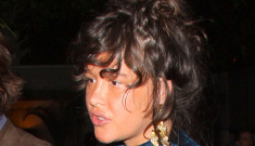 Paz de la Huerta stows off a 'bumpy' midsection: pregnant or just bloated?