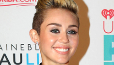 Miley Cyrus in little black Versace at the iHeartRadio festival: hot or tacky?