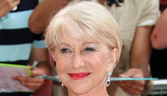 Helen Mirren in Jenny Packham in London, says girls should learn to say 'F— off'