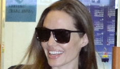 Brad Pitt & Angelina Jolie arrive in Japan with Knox, Vivienne & Pax: cute?