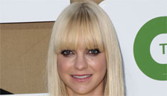 Anna Faris at the CBS/CW Upfronts in canary yellow: cute or garish?