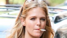 Erin Heatherton got pap'd smoking a cigarette before Victoria's Secret event