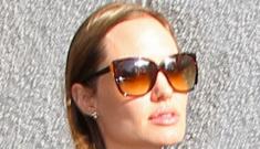 Angelina Jolie & Maddox arrive at LAX, both look like movie stars: adorable?