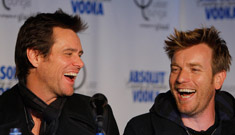Jim Carrey says kissing Ewan McGregor was 'a dream come true'