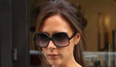Victoria Beckham wears her own quilted, tent-dress design: unfortunate or…?