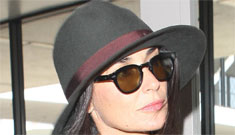 Demi Moore & Ashton Kutcher talked to each other, in public, after sharing a flight