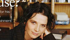 Juliet Binoche's toddler peeled all the gold off her Oscar