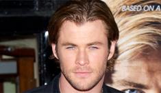 Chris Hemsworth alone at the NYC 'Rush' premiere: where's Elsa Pataky?