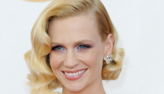 January Jones in dusty rose Givenchy at the Emmys: unexpectedly pretty?